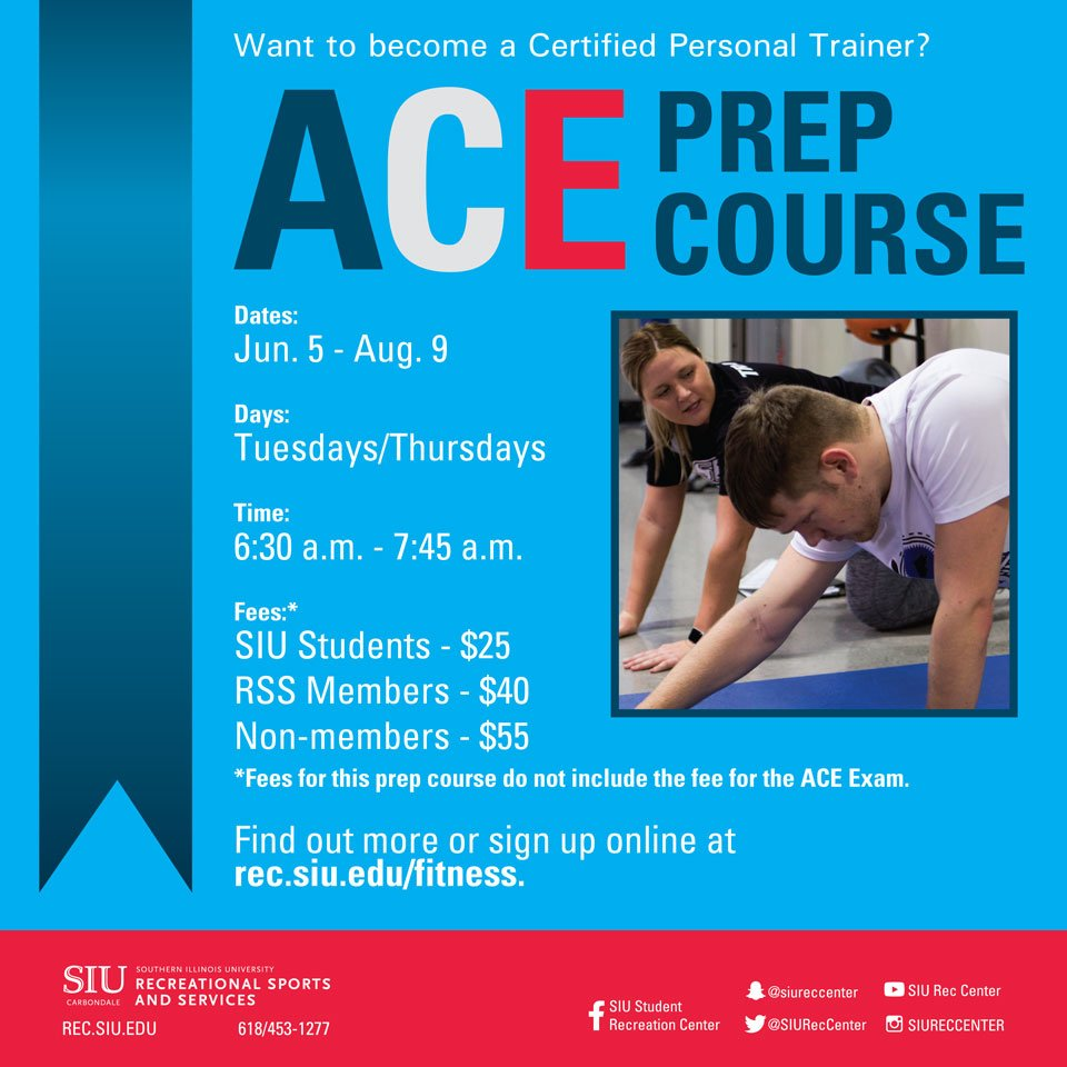 Siu Rec Center On Twitter We Can Help You Prepare For The Ace