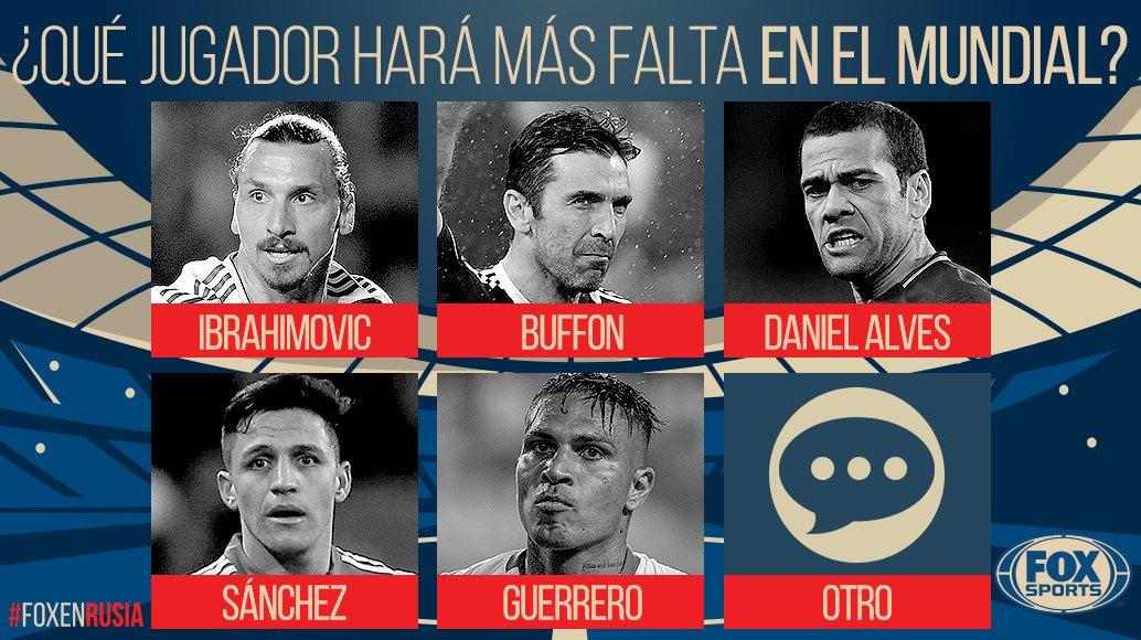 ¡TU OPINIÓN NOS INTERESA!  ¿Qué jugador hará más falta en el Mundial? Comentá usando #FOXEnRusia