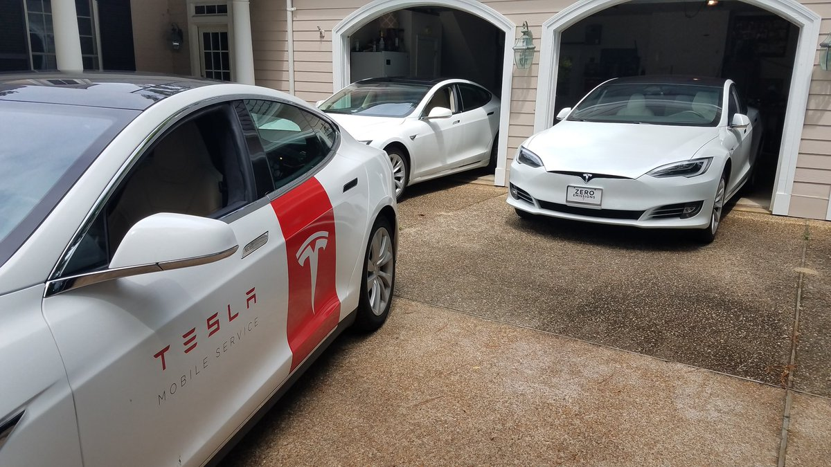 tesla on twitter awesome our mobile service fleet is growing every week turns out 80 of tesla repairs don t even require you to visit a service center https t co k2nzxgnz9t tesla repairs