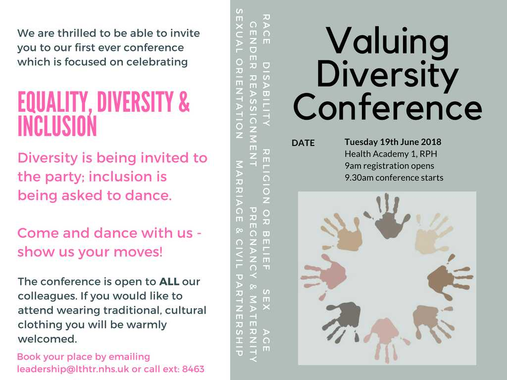 living together with diversity by valuing our Total quality diversity (tqd) is a holistic model of managing diversity that operates on two levels: the horizontal‹the individual interactional change dimension (embracing and valuing diversity) and the vertical‹the institutional structural change dimension (harnessing and empowering diversity.