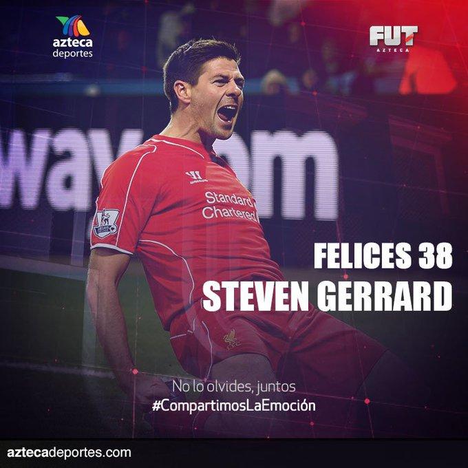 ¡Un histórico del Liverpool y de la selección inglesa está de fiesta!  ¡HAPPY BIRTHDAY STEVEN GERRARD!