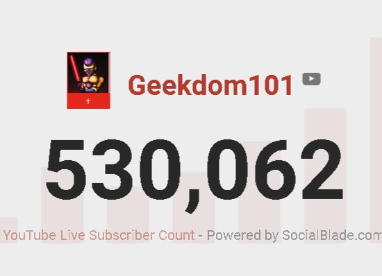 YAY! We hit 530,000 REAL (not botted), REAL subscribers.  Of course, if you are a DBZ fan, or you know that number is important.