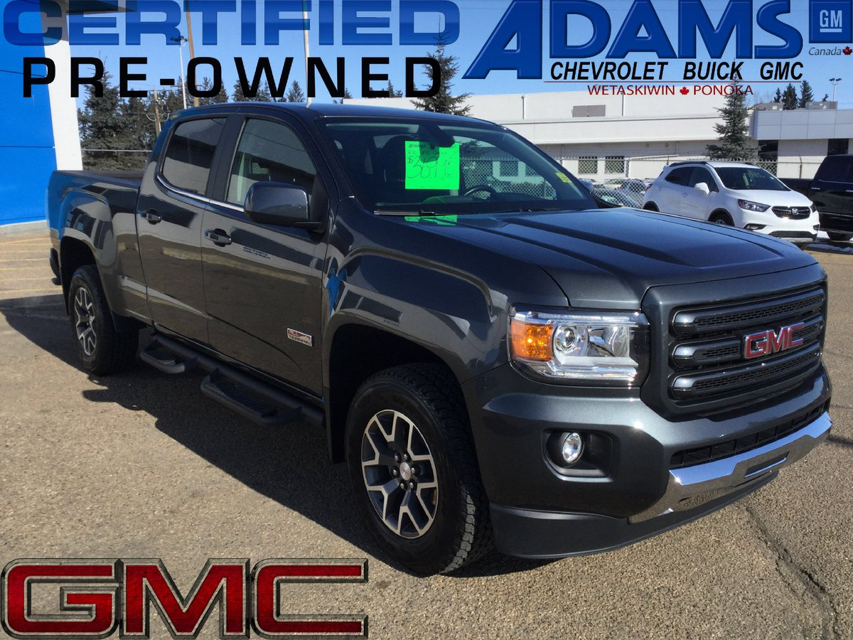 "Adams Chevrolet on Twitter: ""An Albertan truck, this low mileage 2016 #GMC #Canyon offers heated seats, factory remote start, and the sporty All-Terrain ..."
