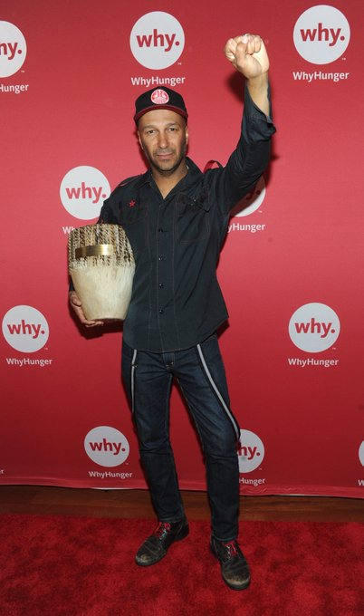 Raise a fist to Tom Morello, a great supporter and activist! Happy Birthday we appreciate you!