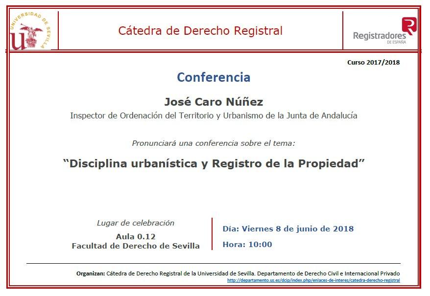 Conferencias en el marco de la Cátedra de Derecho Registral ...