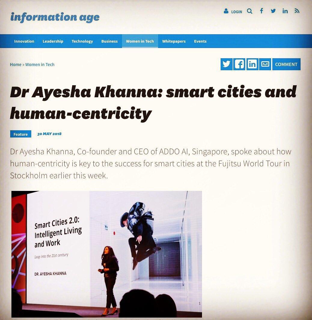 ayesha khanna on twitter thank you informationage magazine for