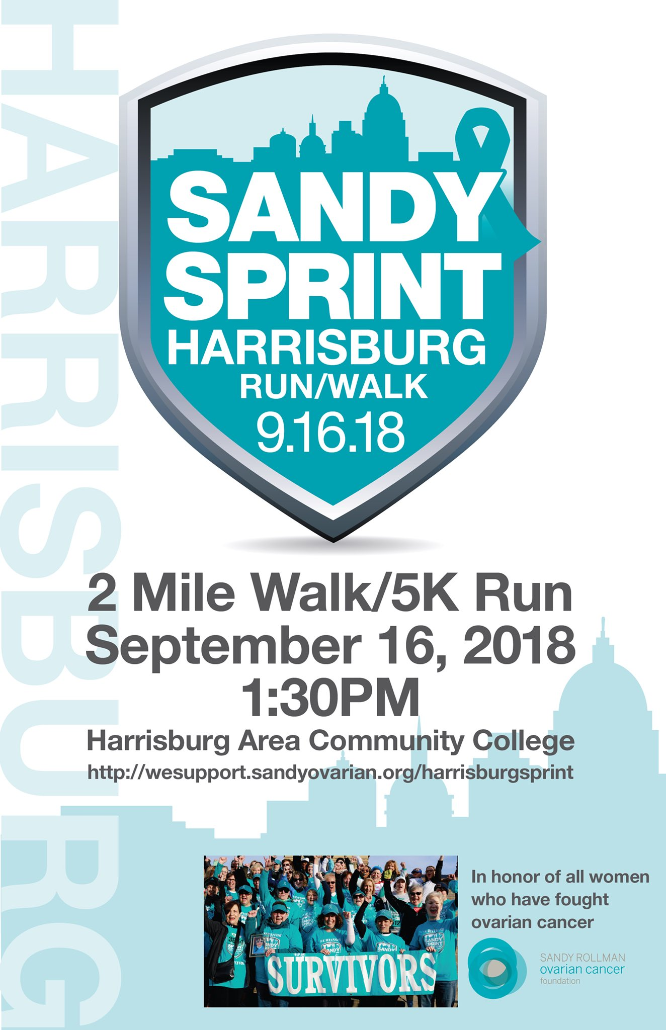 Sandy Rollman Ovarian Cancer Foundation On Twitter The Sandy Sprint Is Heading To Our State Capitol For The First Time On 9 16 Registration Is Now Open At Https T Co Kifcca6ybj 5k Run Walk Ovariancancer Https T Co Fdwfwdaeky