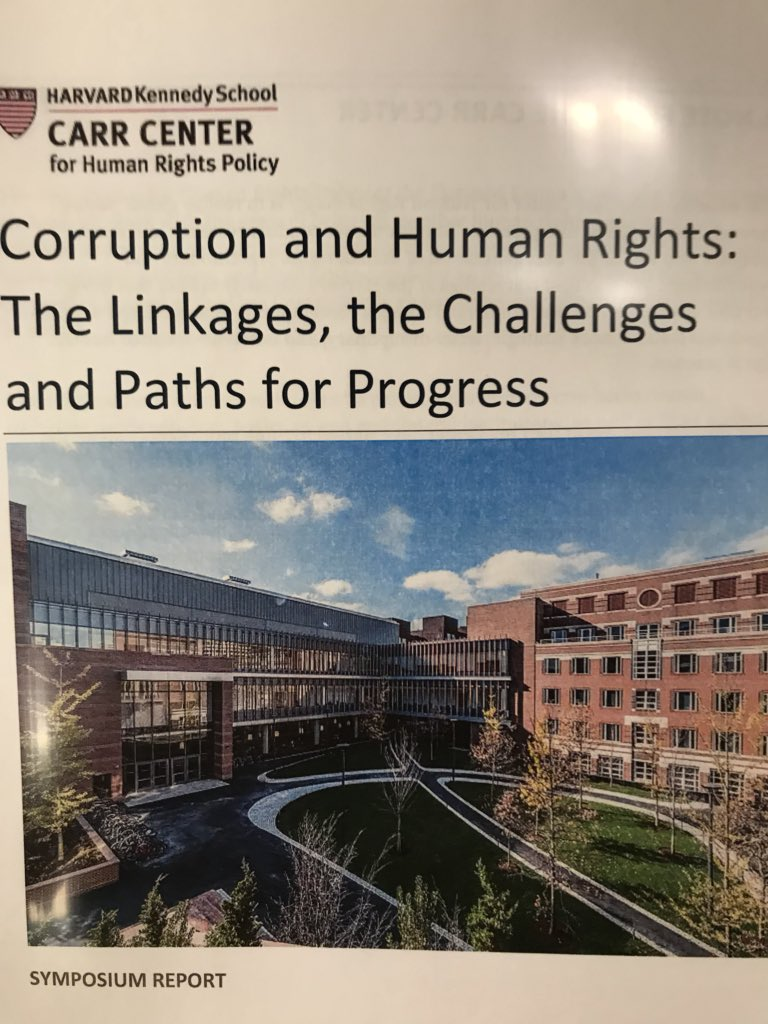 Some delicious reading from @CarrCenter for Human Rights Policy at @Kennedy_School #Harvard. What a spectacular day!