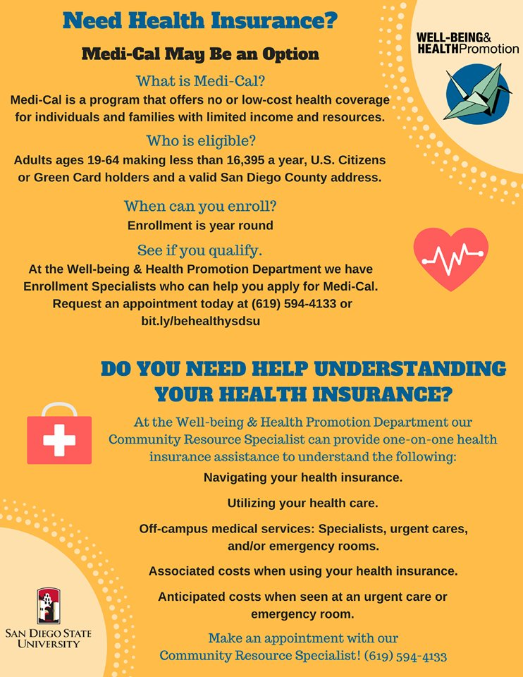 Sdsu Health Insurance >> Sdsu Well Being Health Promotion On Twitter Do You Or