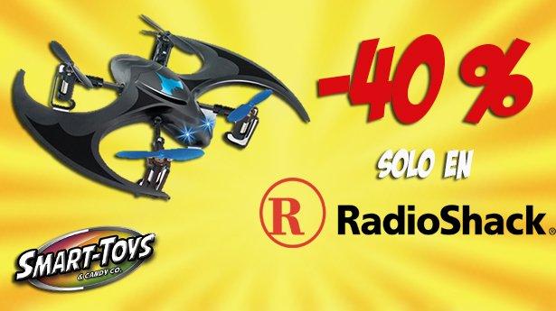 ¡ OFERTOOON ! Corre, vuela y acelera y ve por tu BAT DRONE solo con #RadioShack  #Promo #Smart #Drones #BatDrone https://t.co/Sv5OlbLlpO