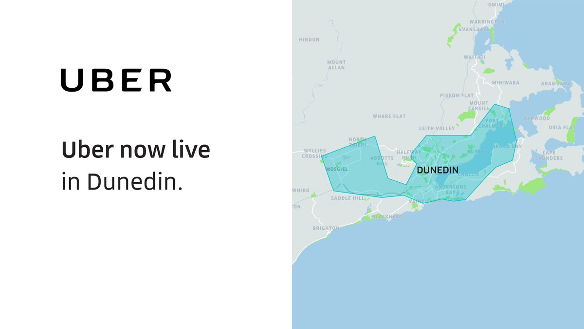 Dunedin- we're on the map! Your reliable ride is now here-  join the 450,000 Kiwis moving with Uber, be it commuting to work, hanging out with friends or enjoying a night out.  Tag a friend who's been waiting for this! https://t.co/vub2fHvCno https://t.co/2xKwXk5vcG