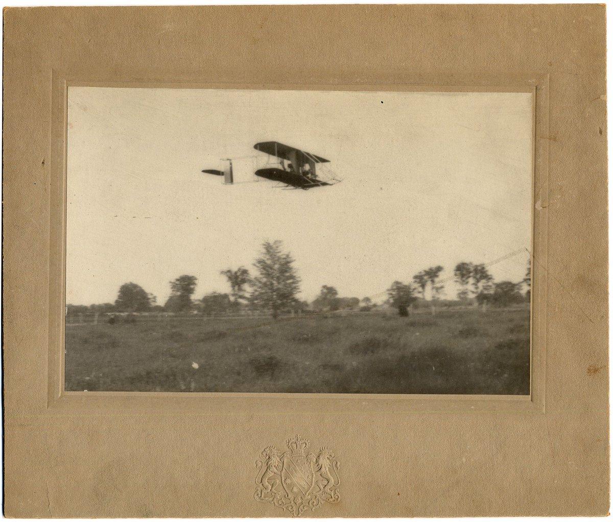 1912 : Airplane Over Flint Fair Grounds