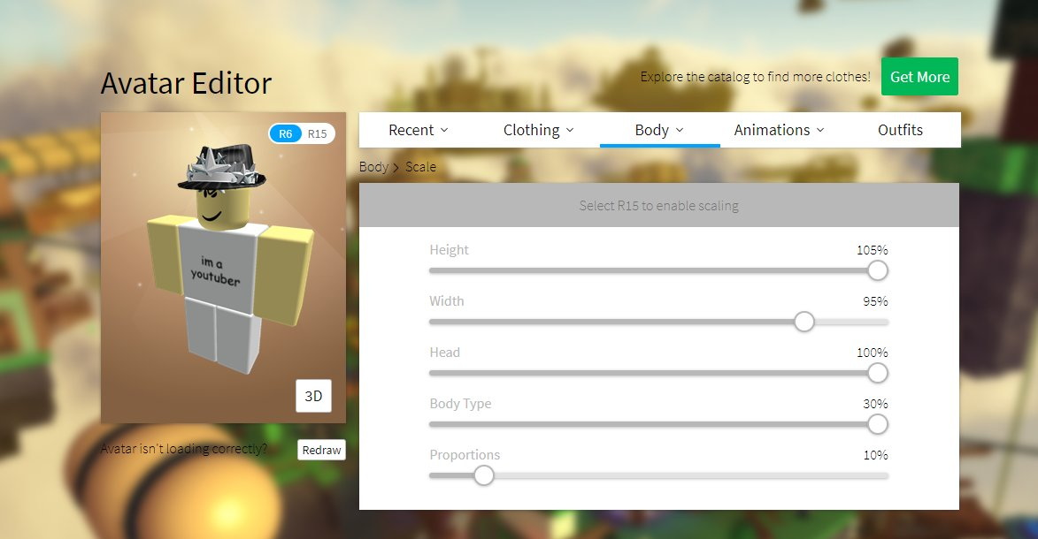 Roblox What Does Proportions Do Bloxy News On Twitter Bloxynews Anthro Is Now Available For Everyone On Roblox Head To Your Avatar Editor Under Body And Change Your Proportions Must Be R15 Robloxdev Https T Co Gqqwi6cvno