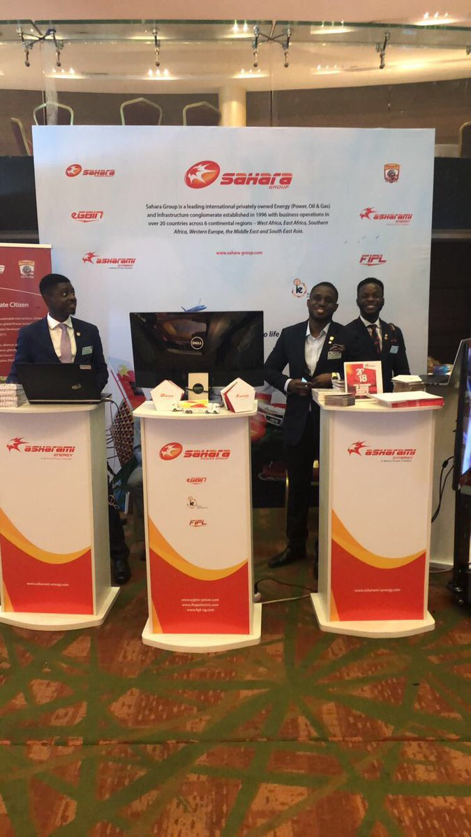 We are global corporate citizens bringing energy to life with smiles at the @FT summit in Nigeria #FTNigeria #WeareSahara <br>http://pic.twitter.com/pTClJN3GqC