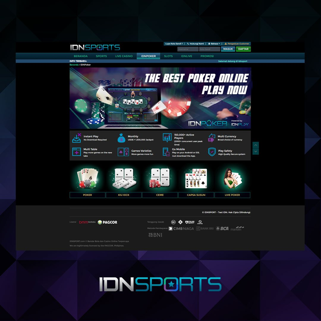 Idnplay On Twitter Sportsbook Live Casino Multiplayer Games Slots Rng Live Lottery And Virtual Games You Name It We Got It Idnplay Idnsports Onlinegames Onlinegamesasia Onlinegameslots Https T Co 4m0f19sjs1