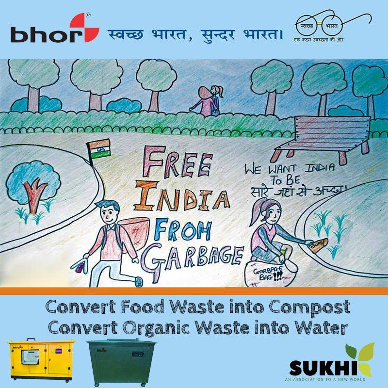 """Free India From Garbage"" Compost your waste !! Convert your waste into Water !! #swachhsurvekshan2018 #swachhbharatabhiyaan #swachhbharatmission #beswachh #foodwaste #organicwaste #composting #wastetocompost #sukhiservices #bhor #kitchenwaste #homewaste #pollution #environmentpic.twitter.com/9JJBG81MM5"