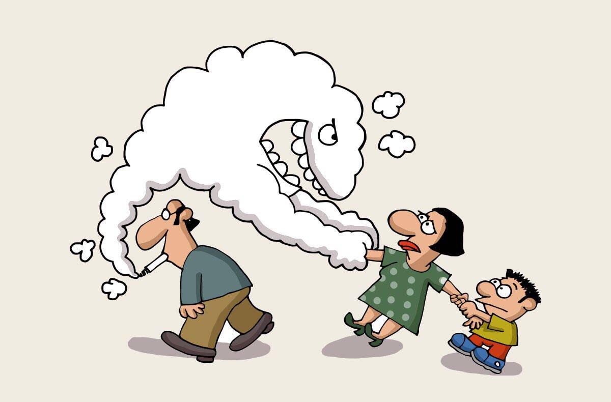 Картинки для детей человек курит