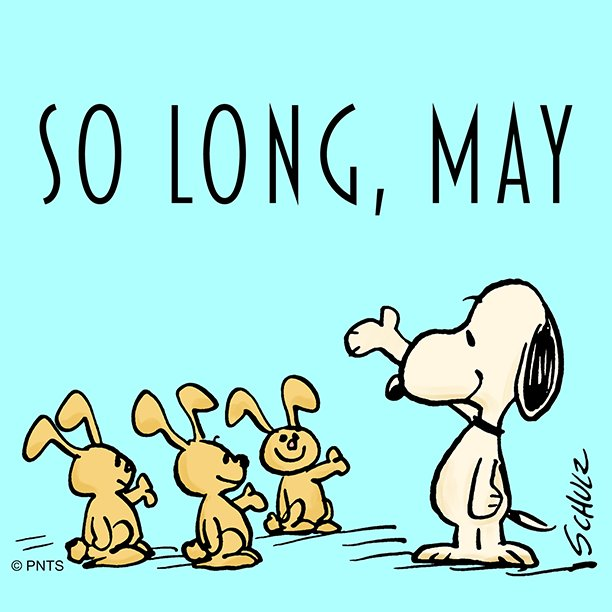 "PEANUTS on Twitter: ""Goodbye, May!… """
