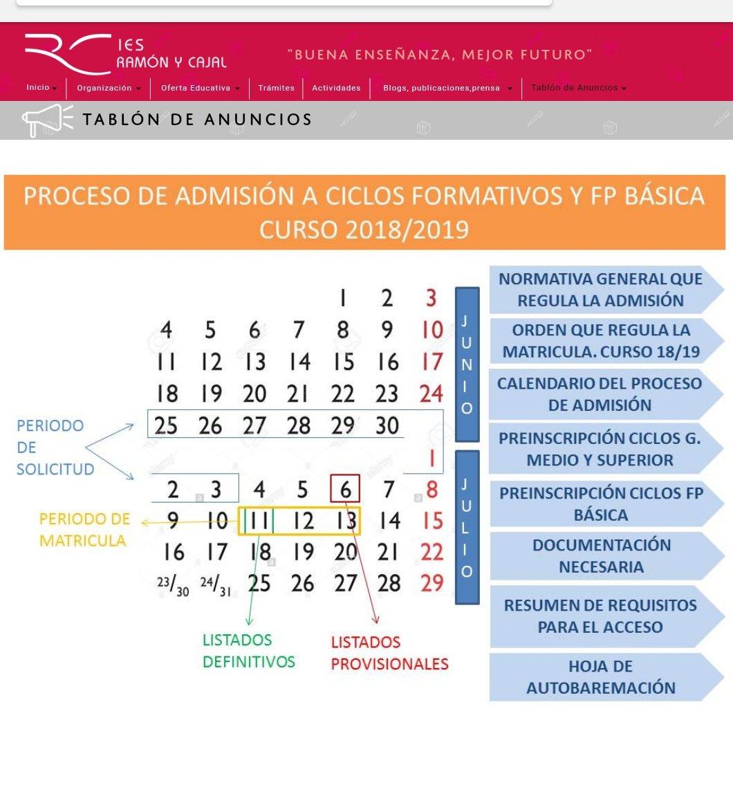 Ies Ramon Y Cajal Va On Twitter Atentos Al Proceso De