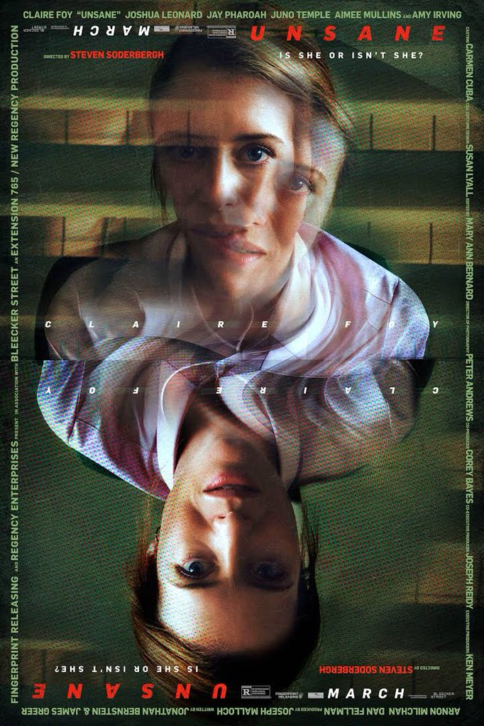 #Unsane #mangoreviews 9/10 a woman seeks for consultation due to stalker issues but ends up committing into the mental institution against her will -minimal production value -maximum suspense and twists -shot entirely on an iPhone 7 Plus -excellent acting from Claire Foy