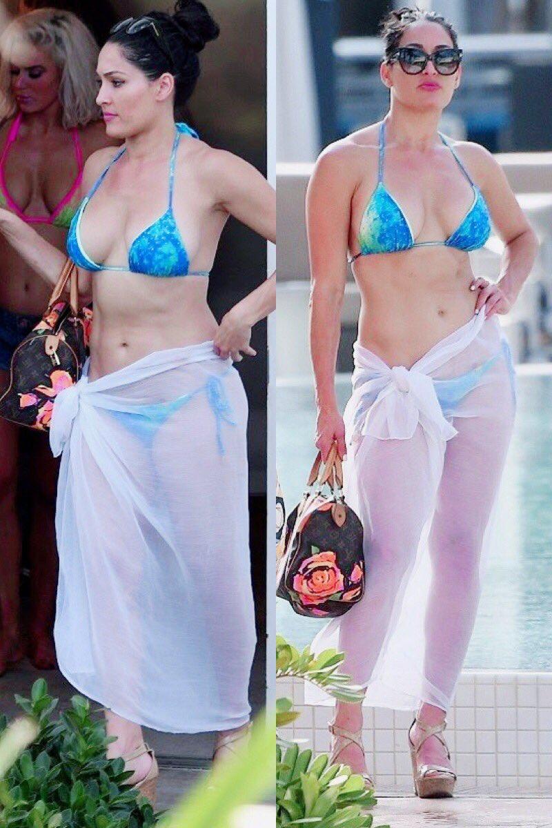Flashback Friday: WWE Star Nikki Bella Draped In Ultra-Hot Bikini For Total Divas 40
