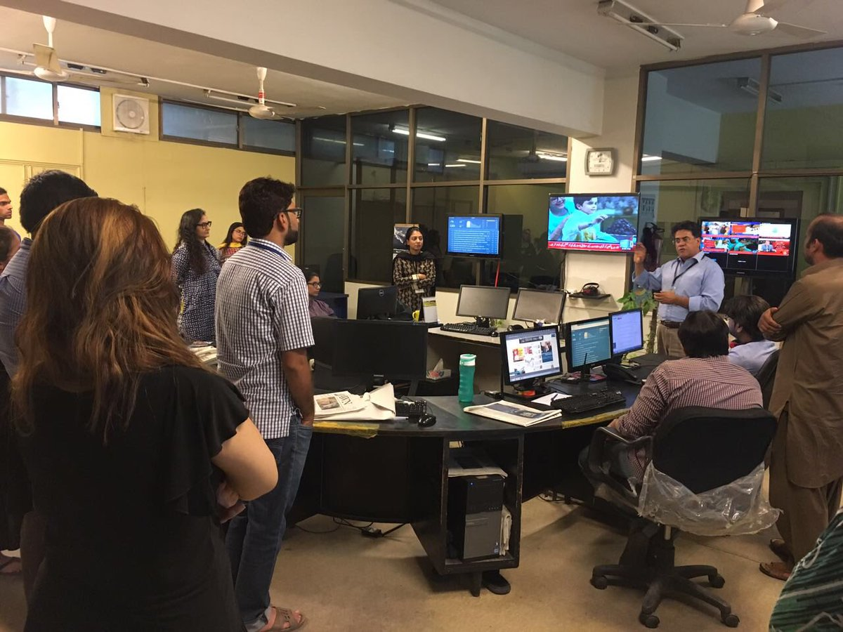 We thank everyone at @dawn_com for taking the time to hear about CEJ's Masters of Science in Journalism program and the free mental health counselling service being offered in collaboration with Deutsche Welle for journalists in Pakistan.
