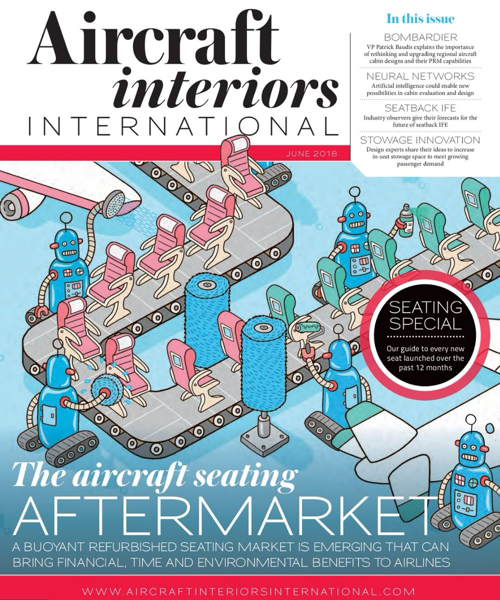 ACCu0027s Senior Interiors Manager, Robert Pearson, Talks To Aircraft Interiors  International About The Advantages Aftermarket #aircraftseats In This  Monthu0027s ...