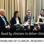Fantastic Corporate Enabling of Clinical Research conference yesterday @crdireland Clinicians (incl 2 ICAT Directors David Williams @RCSI_Irl and Deirdre Murray @UCC_Medicine) in discussion about challenges they face