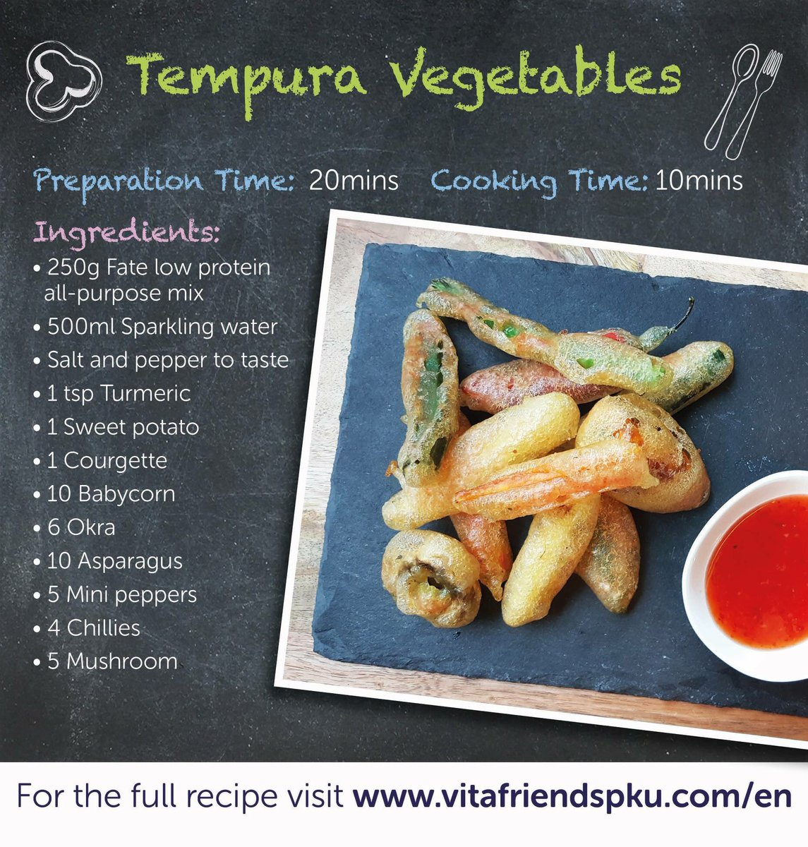 Today is the last day of Fakeaway May.. but don&#39;t worry, these Tempura Vegetables are the perfect fakeaway if you fancy something a little bit different. Link is here:  https://www. vitafriendspku.com/en/recipes/low -protein-tempura/ &nbsp; …  What&#39;s been your favourite Fakeaway recipe everyone? #pku #pkurecipes #FakeawayMay<br>http://pic.twitter.com/kNGStYgGEM