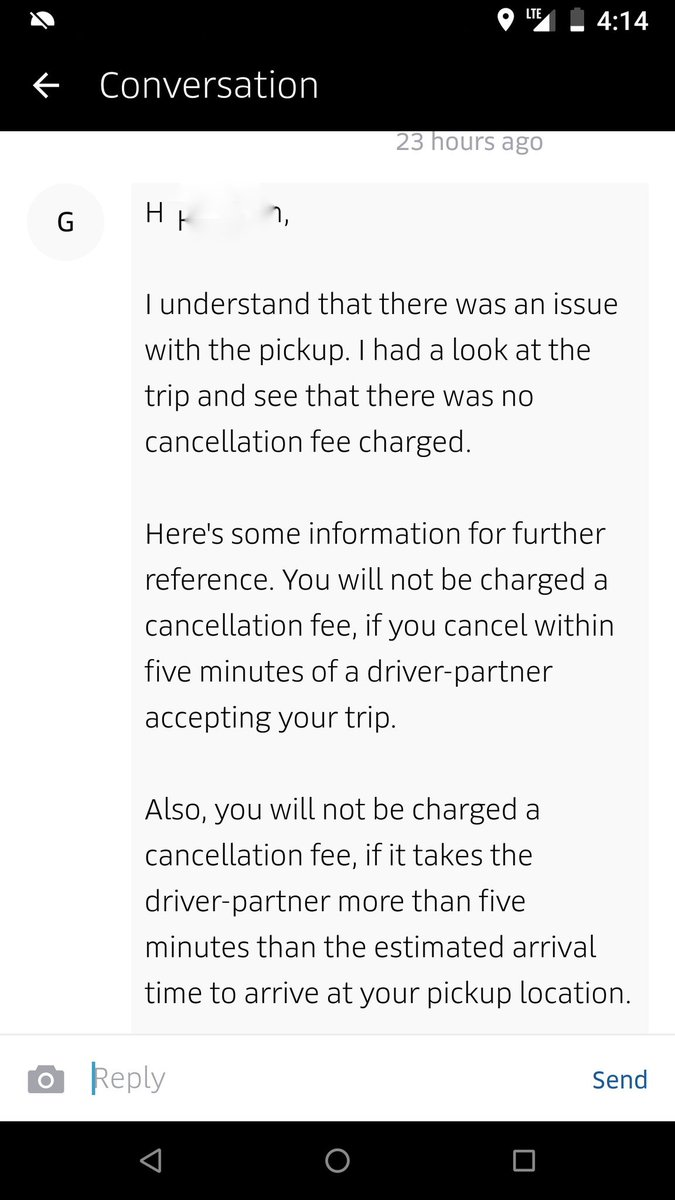 Everytime you guys prove that you don't even read what the consumer complaint is. @UberINSupport my issue was not at related to pickup. PFB your response.  #patheticservice #Uber #uberind #travisk #garretcamp #Ubercustomercare