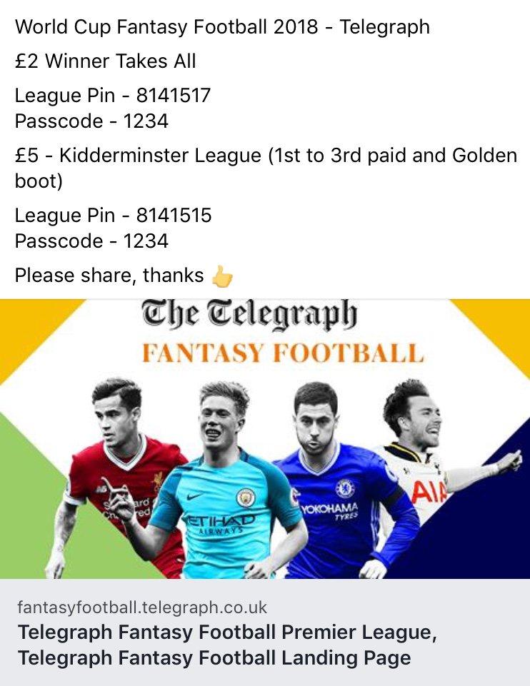 telegraph world cup fantasy football