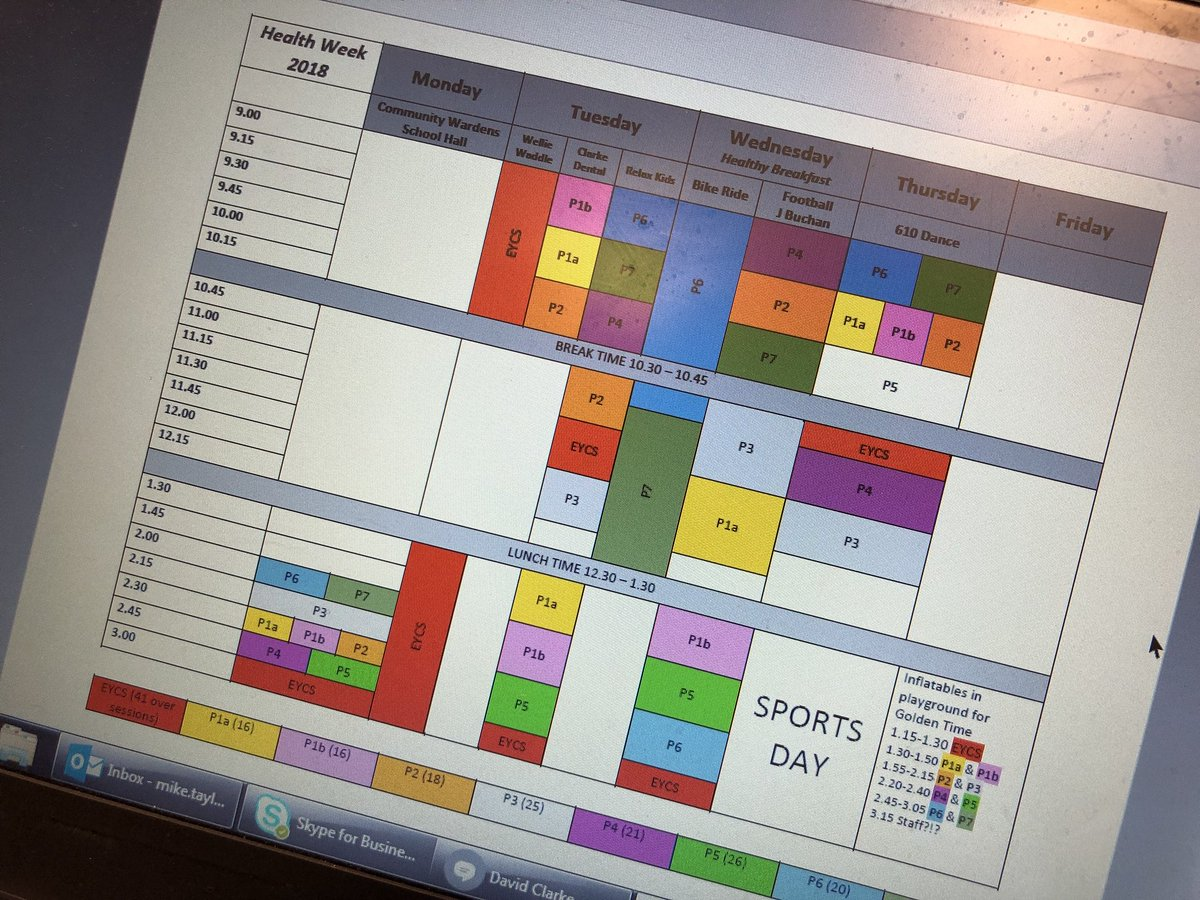 Health Week in school next week- so exciting! My admin says I have OCD issues though...