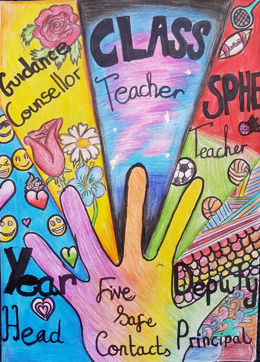 Colaiste Nano Nagle On Twitter Congratulations To The Winning Entry Our Amber Flag Poster Competition For Positive Mental Health This Shows