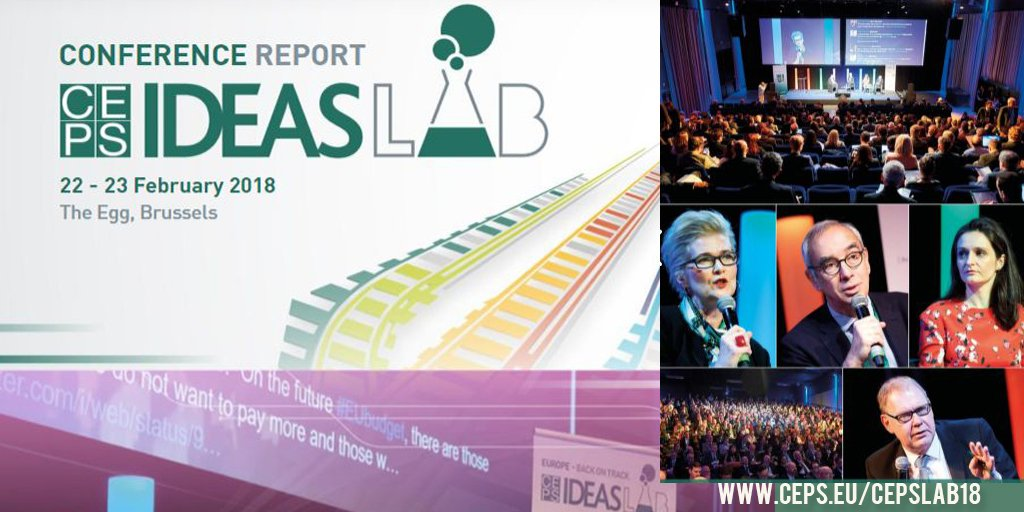 [NEW] Couldnt attend #CEPSlab18? No worries, the full report is out now and you can read the summary of each session and the key discussion points that were brought up in the debates ceps.eu/cepslab18 . . #EUtrade #FairTaxation #EMU #MigrationEU