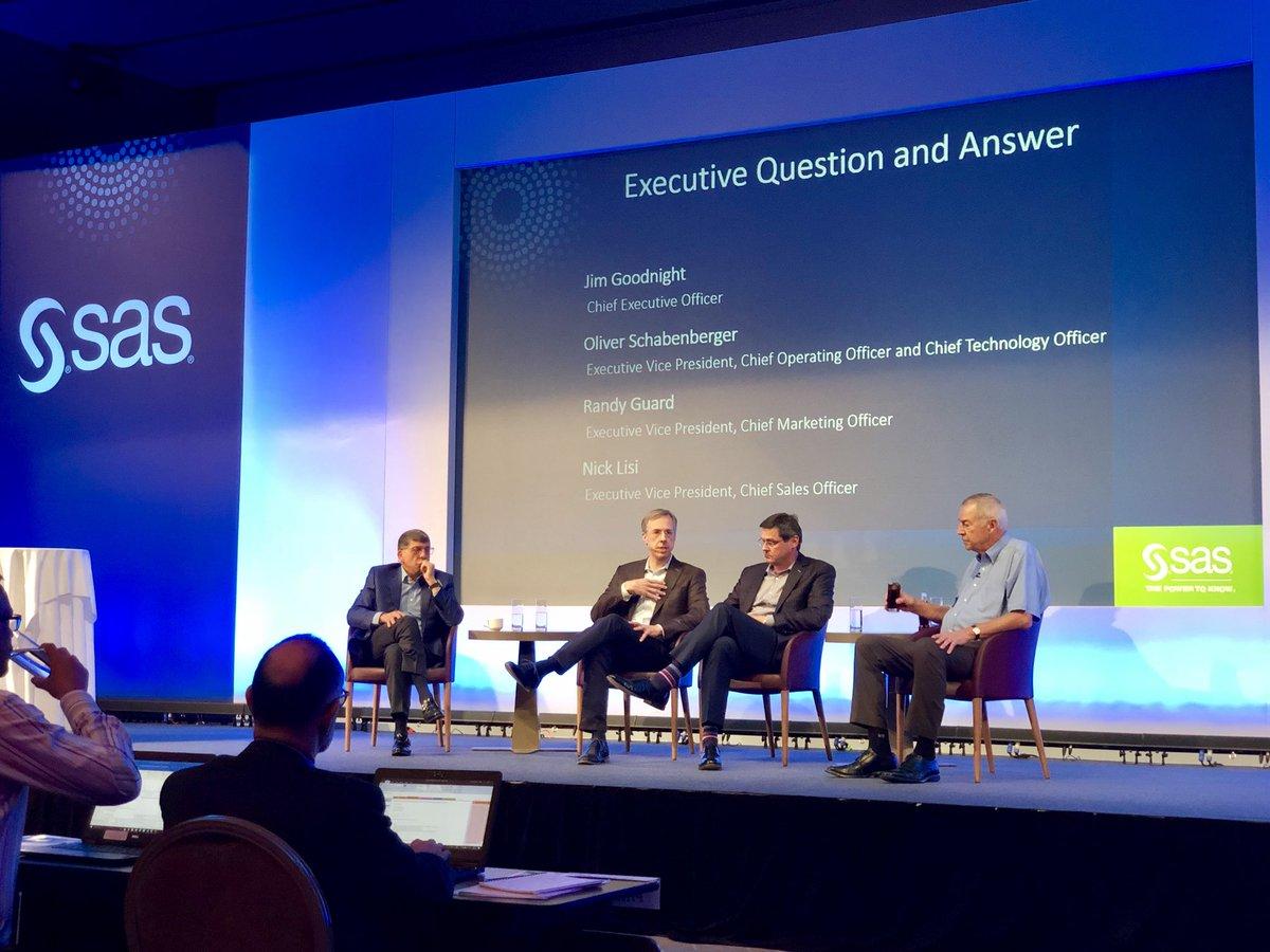 Interesting discussion around competing forces facing the market - on one hand, #AI &amp; ML demand more data, while society demands they use only the data they need (#GDPR). Interesting times ahead! #sasarconf <br>http://pic.twitter.com/d3kqxzo7mC