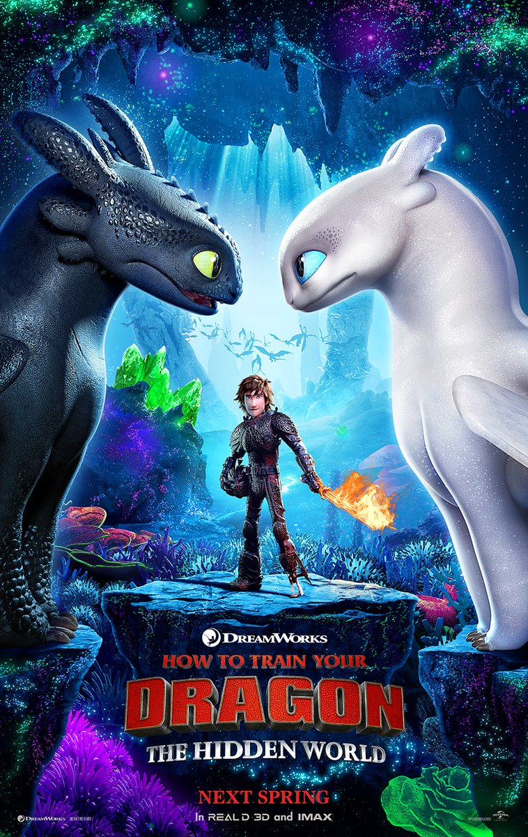 Check out the all-new poster for #HowToTrainYourDragon The Hidden World! The first trailer arrives next week.