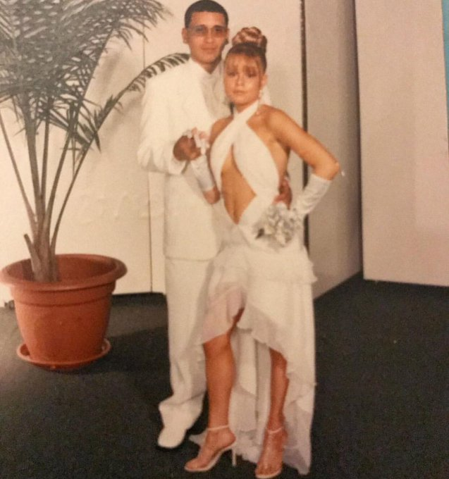 So this photo is a major throw back to my HS prom 😂 and yes i designed my dress I've always been a slut
