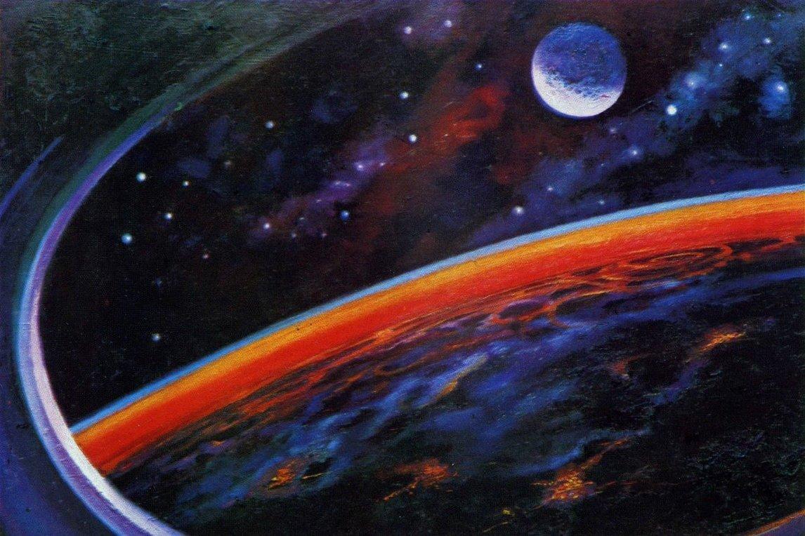 Через ватсап, космос леонов открытки