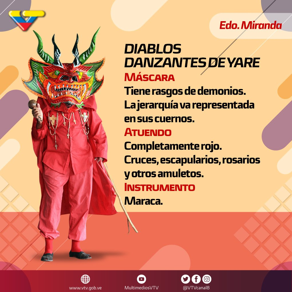 Vtv Canal 8 On Twitter Los Diablos Danzantes De Yare Son