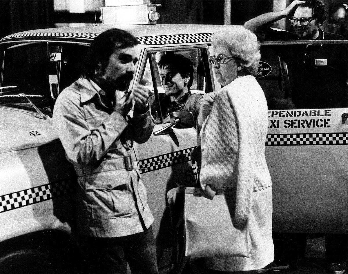 Martin Scorsese, his Mom & Robert De Niro behind the scenes on Taxi Driver (1976). #Cinema #BTS https://t.co/gNDiLIyMkP