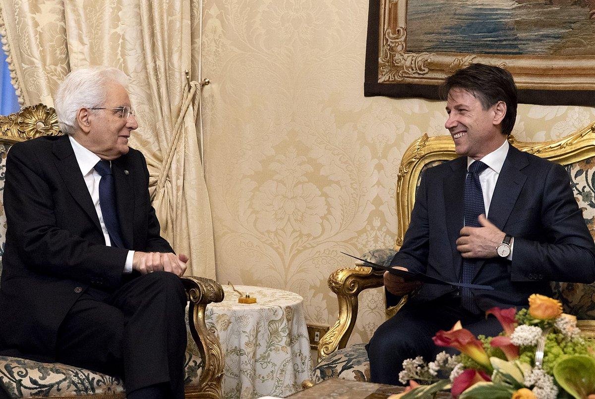 #Quirinale: il Presidente #Mattarella incontra il Prof. Giuseppe #Conte
