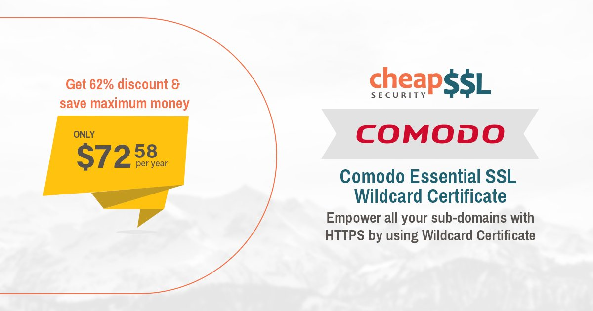 "cheapsslsecurity on twitter: ""comodo essentialssl wildcard ..."