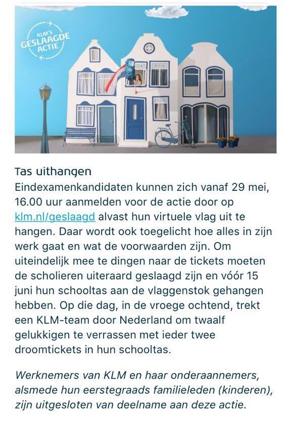 """@KLM_press @KLM Hier de tekst van mijn zoon @JobvdMaten """"mijn vader werkt bij de Tankdienst van de KLM , en ik mag niet bijtanken na het behalen van mijn examen #diplomabehalen #4jaarstuderen"""" jammer van de kleine lettertjes 😢"""