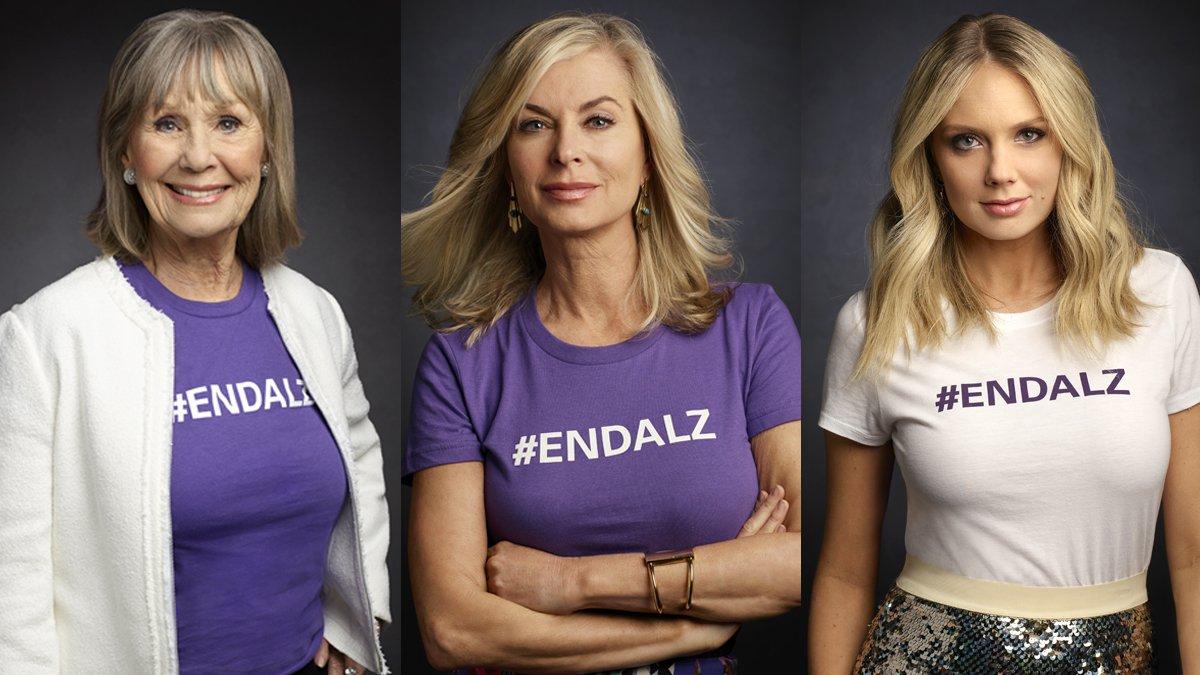 Звезды Молодых и Дерзких присоединились к кампании по борьбе с болезнью Альцгеймера. DejMwEJU0AEjzAY