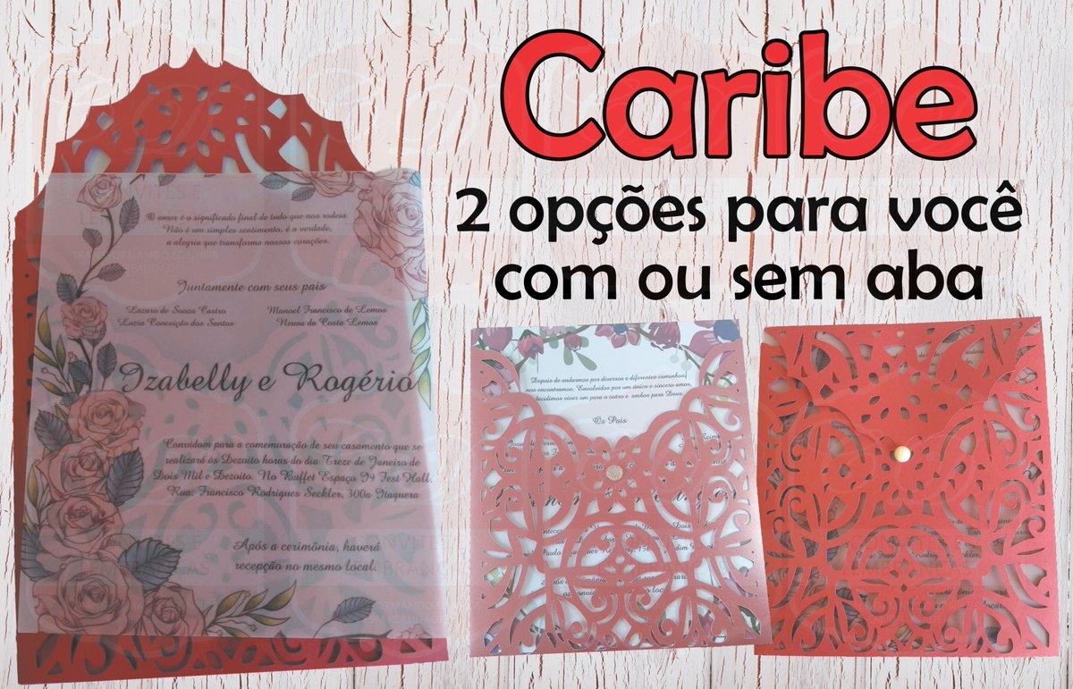 C D Convites On Twitter Convite Caribe Papel 180g Com De 30