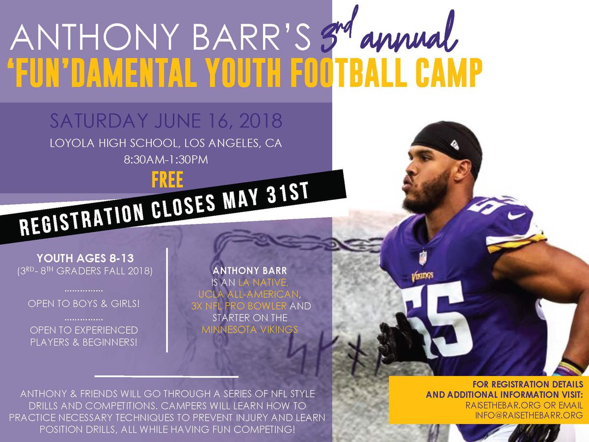 "Anthony Barr on Twitter: ""Regi..."