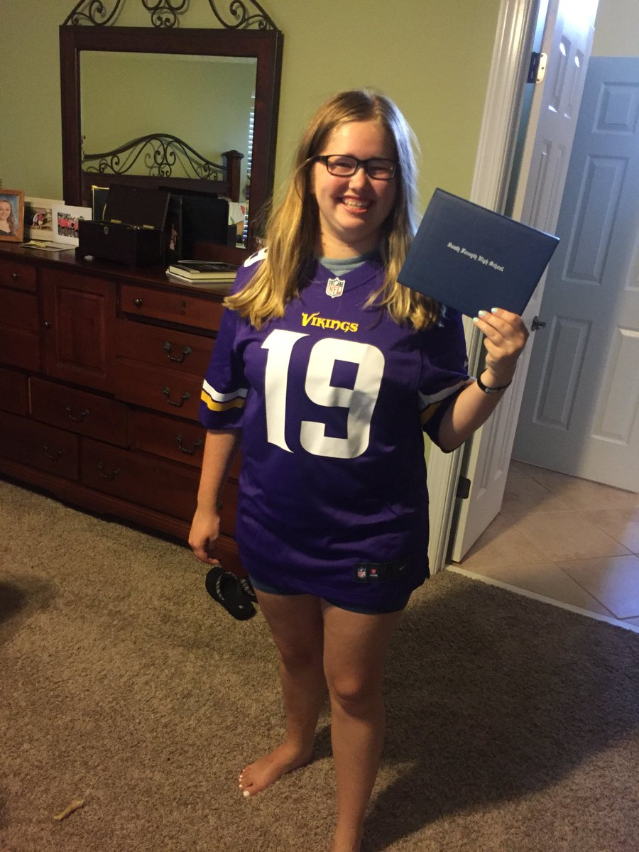 I️t only took me 18 years and a high school diploma but I️ finally got my Vikings jersey