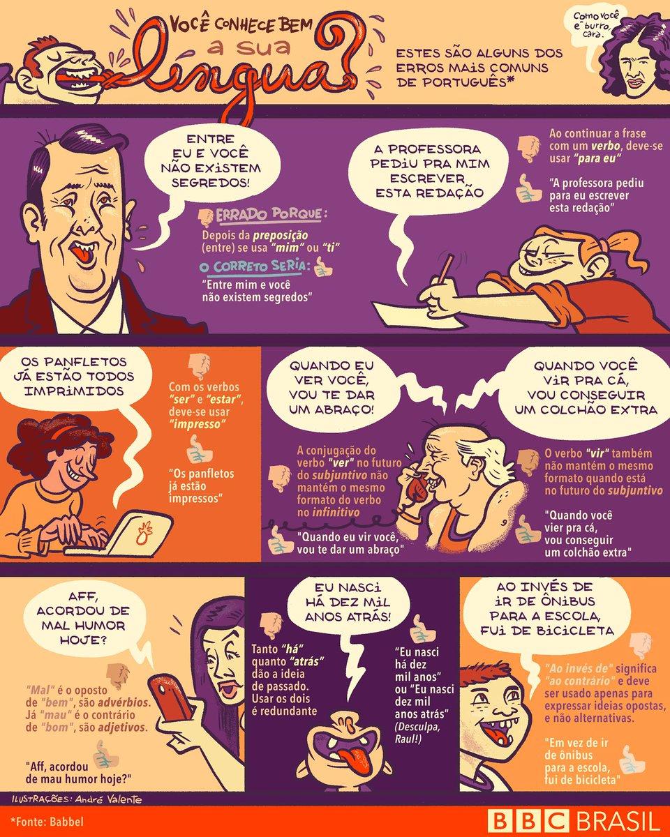 #ArquivoBBC Os 10 erros de português mais cometidos pelos brasileiros https://t.co/HGPjB3g4gE