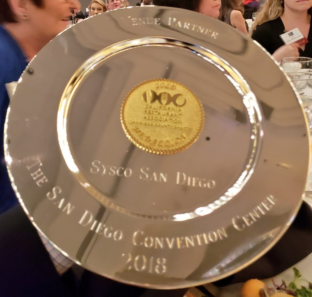 San Diego Convention Center On Twitter Thank You Calrestaurants Sandiego Chapter For Naming Sdconventionctr Venue Partner Of The Year At The Gold Medallion Awards San Diego S Most Prestigious Restaurant Honors Our Board