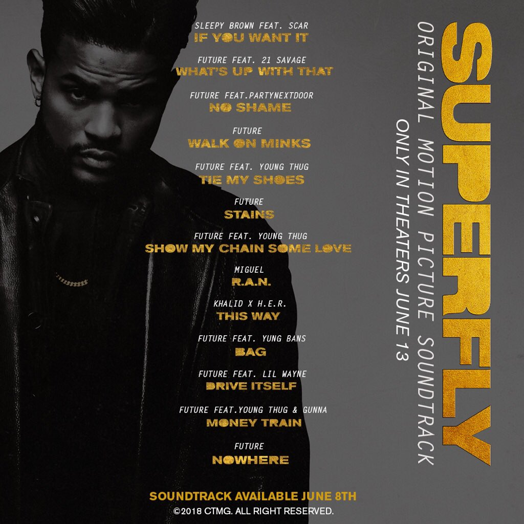 #SUPERFLY TRACKLIST Album out June 8th!